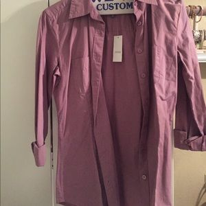 Lavender button down collar shirt